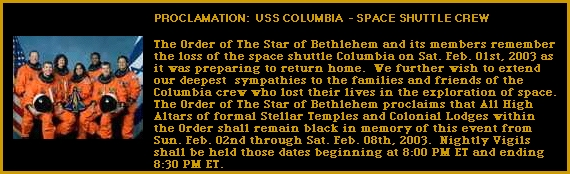 Space Shuttle USS Columbia Banner